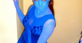 Cheap Homemade Halloween Costumes Blue Color