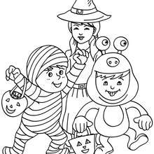 Free Coloring Pages Of Halloween Costumes For Kids