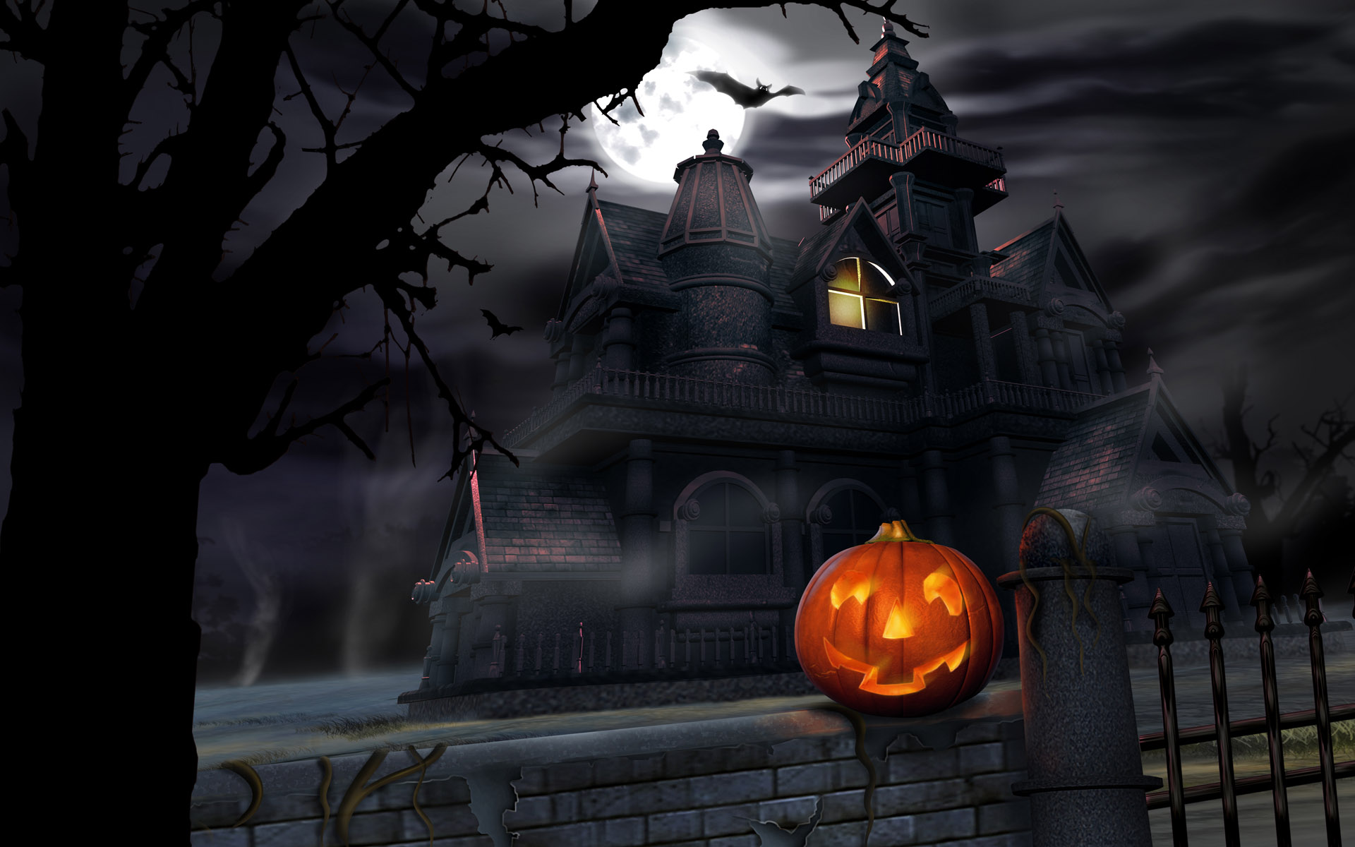 Halloween Animated Background Pic