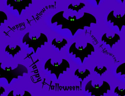 Halloween Bats Background Photo