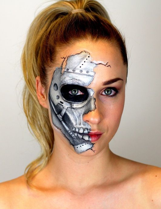 Halloween Face Painting Skull