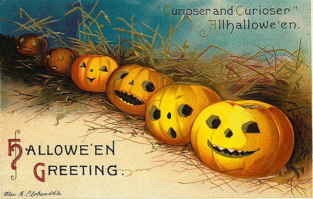 Vintage Halloween pumpkin images