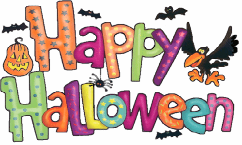 happy halloween clipart pumpkin bats birds