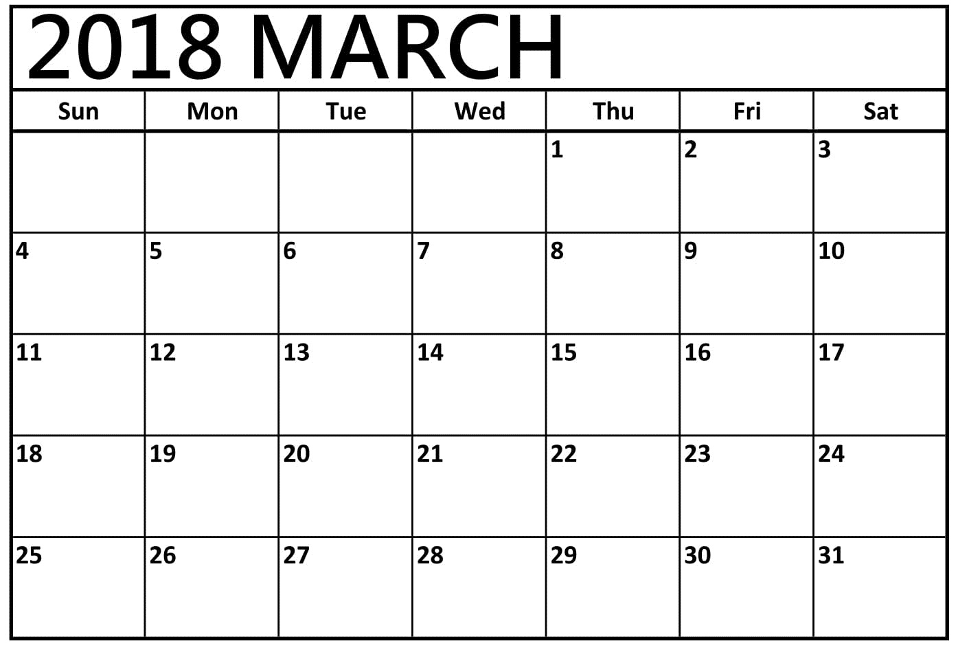 image relating to Printable March Calendar Pdf named March 2018 Printable Calendar Pdf No cost Obtain