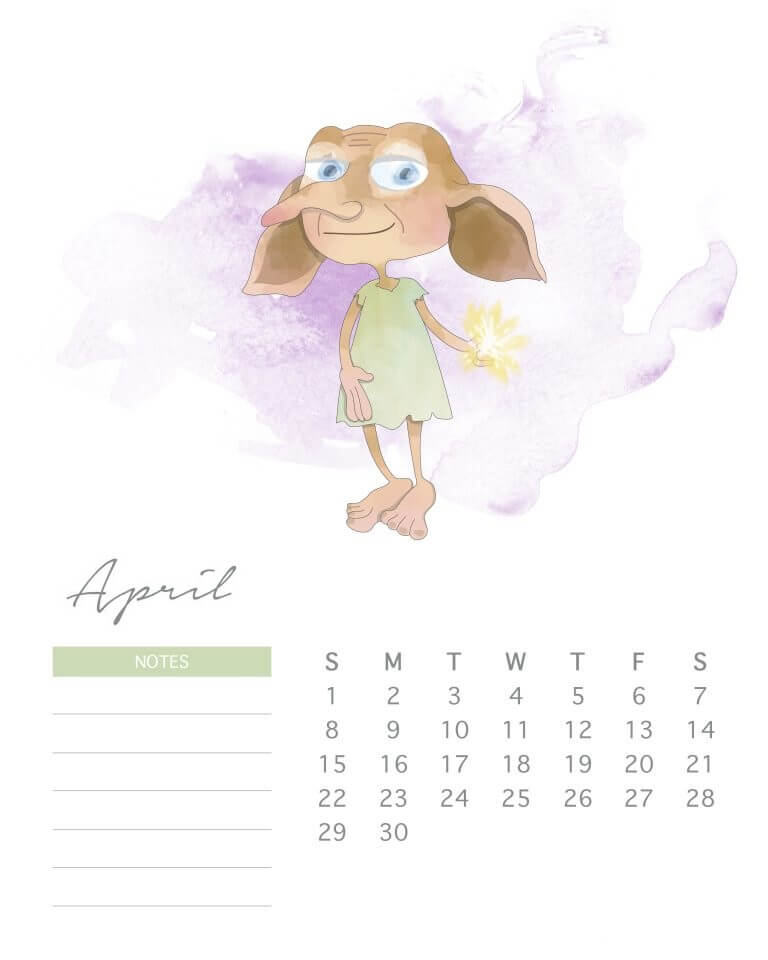 Calendar April 2018 For Kids