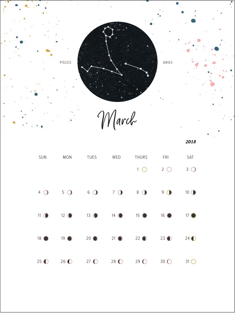 New Moon Phases March 2018