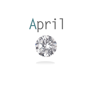 Birthstone Charm April Crystal