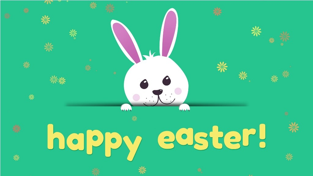 Cartoon Easter Bunny Wallpaper