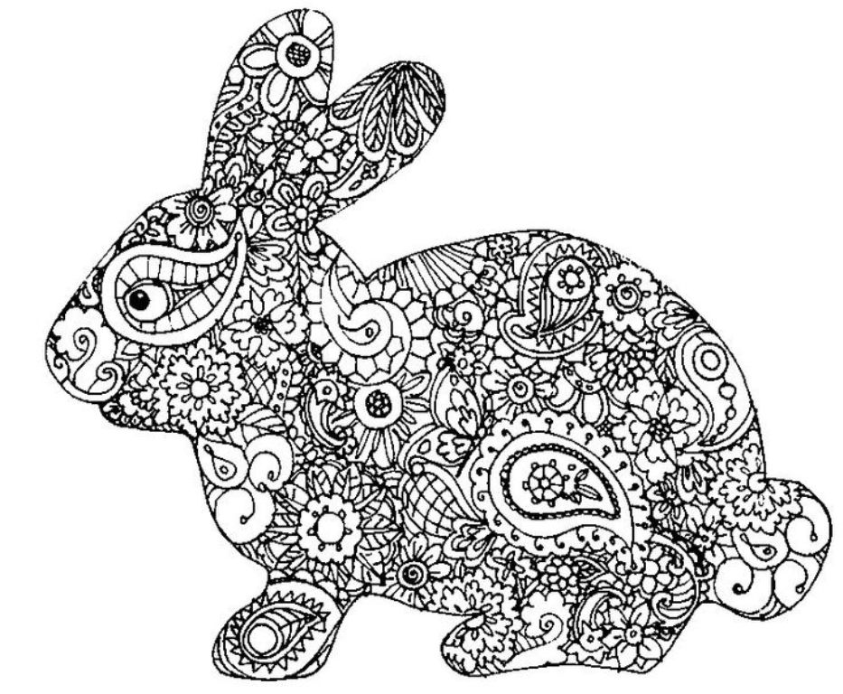 Easter Bunny Coloring Pictures