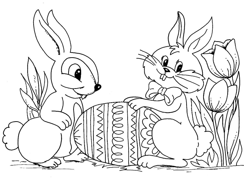Easter Bunny Pictures Coloring Pages