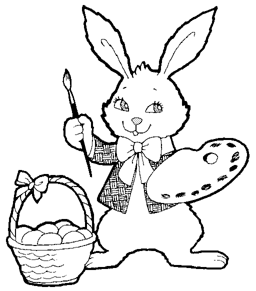 Easter Clipart Black and White Free