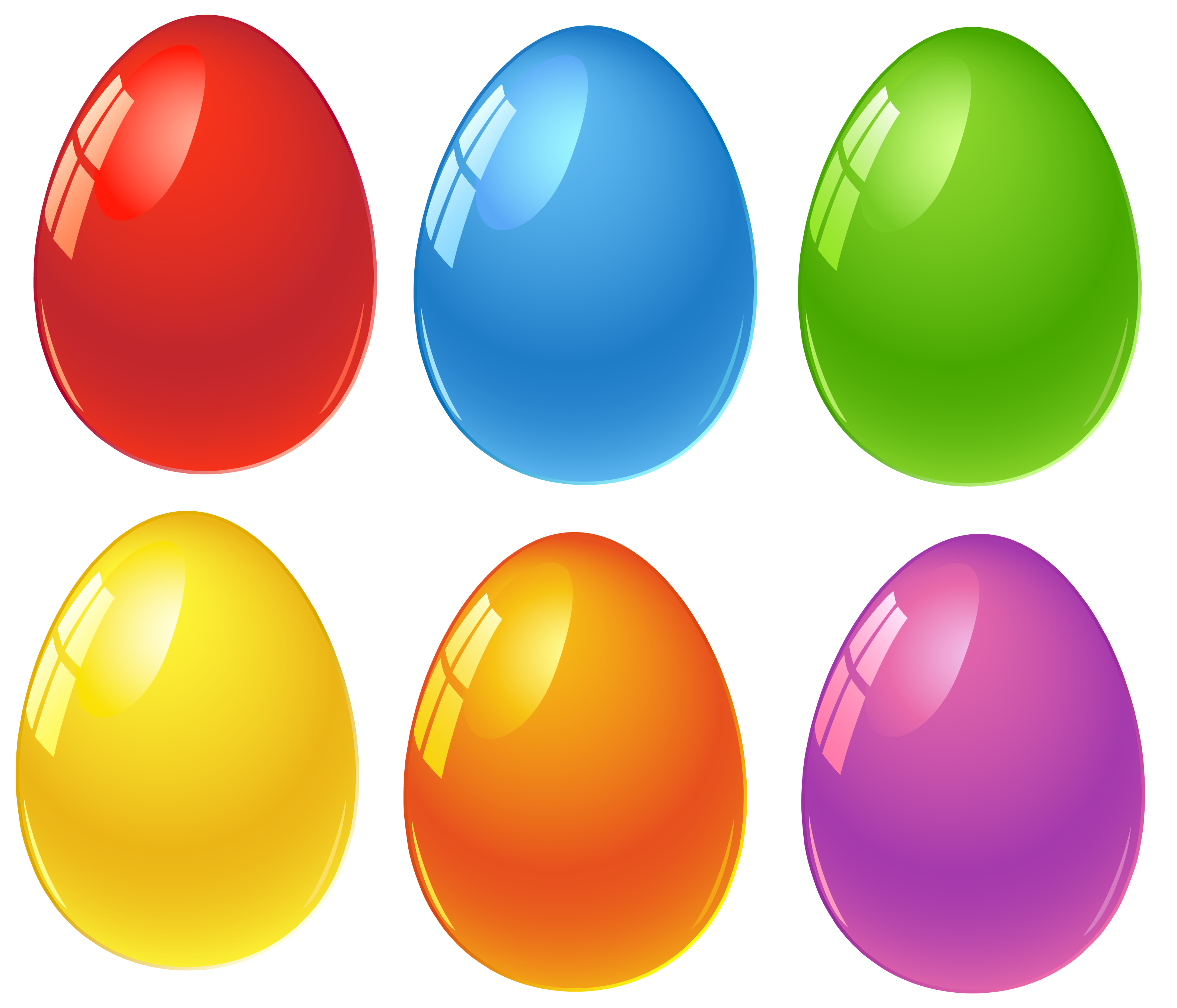 Easter Eggs Clipart to Color