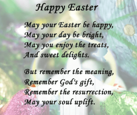 Easter Poems for Studendts