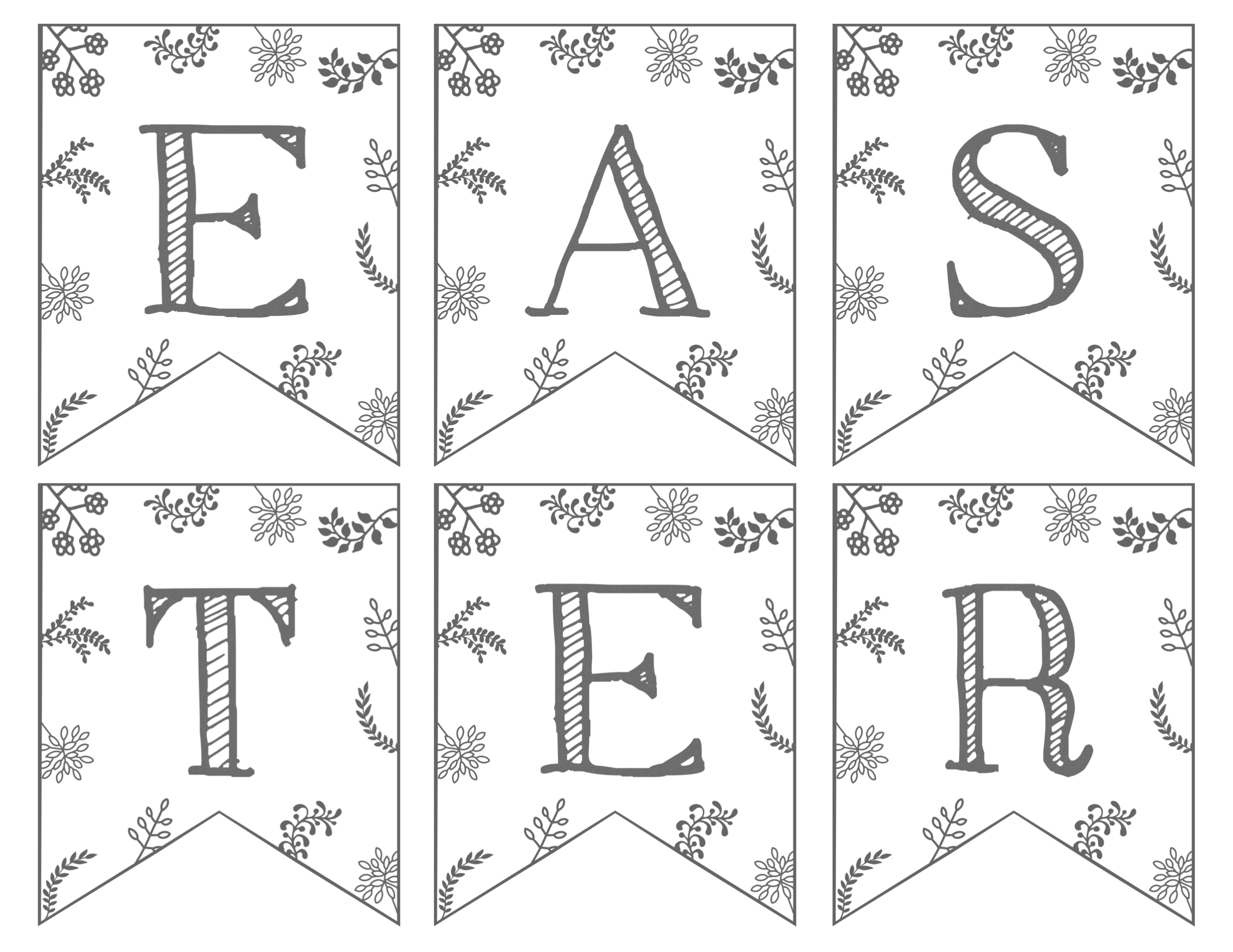 Easter Banners Black and White
