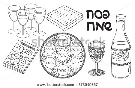 Passover Clipart Black and White