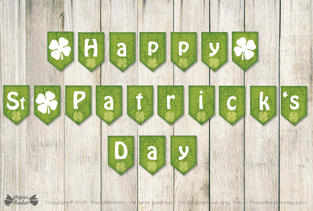 St Patricks Day Banners Printable