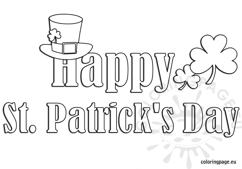 St Patricks Day Clipart Coloring Pages