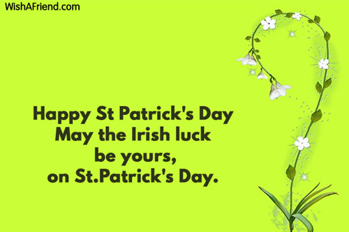 St Patricks Day Messages Greetings