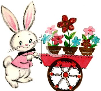 Easter bunny Clipart Vintage