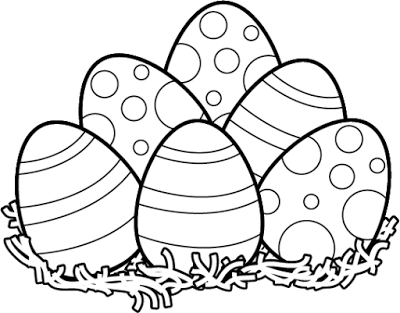 Easter Clipart Black and White