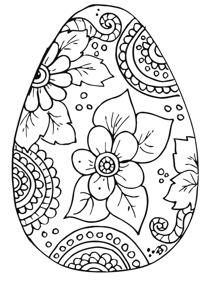 Easter Coloring Pages for Adults Adults