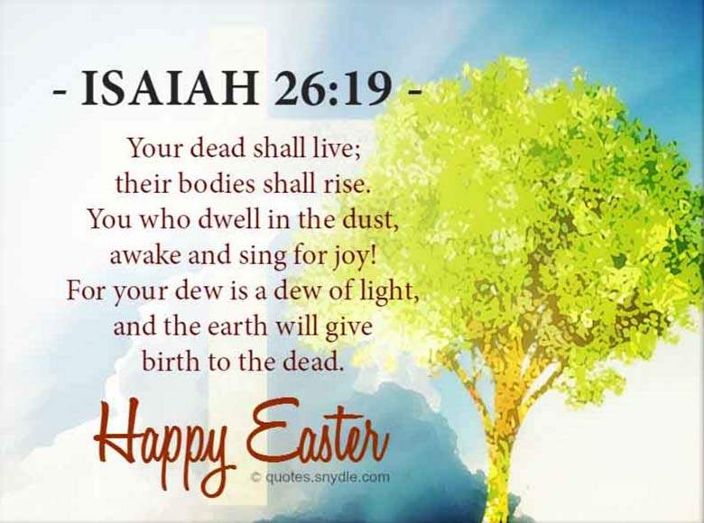 Happy Easter Quotes Bible Verses
