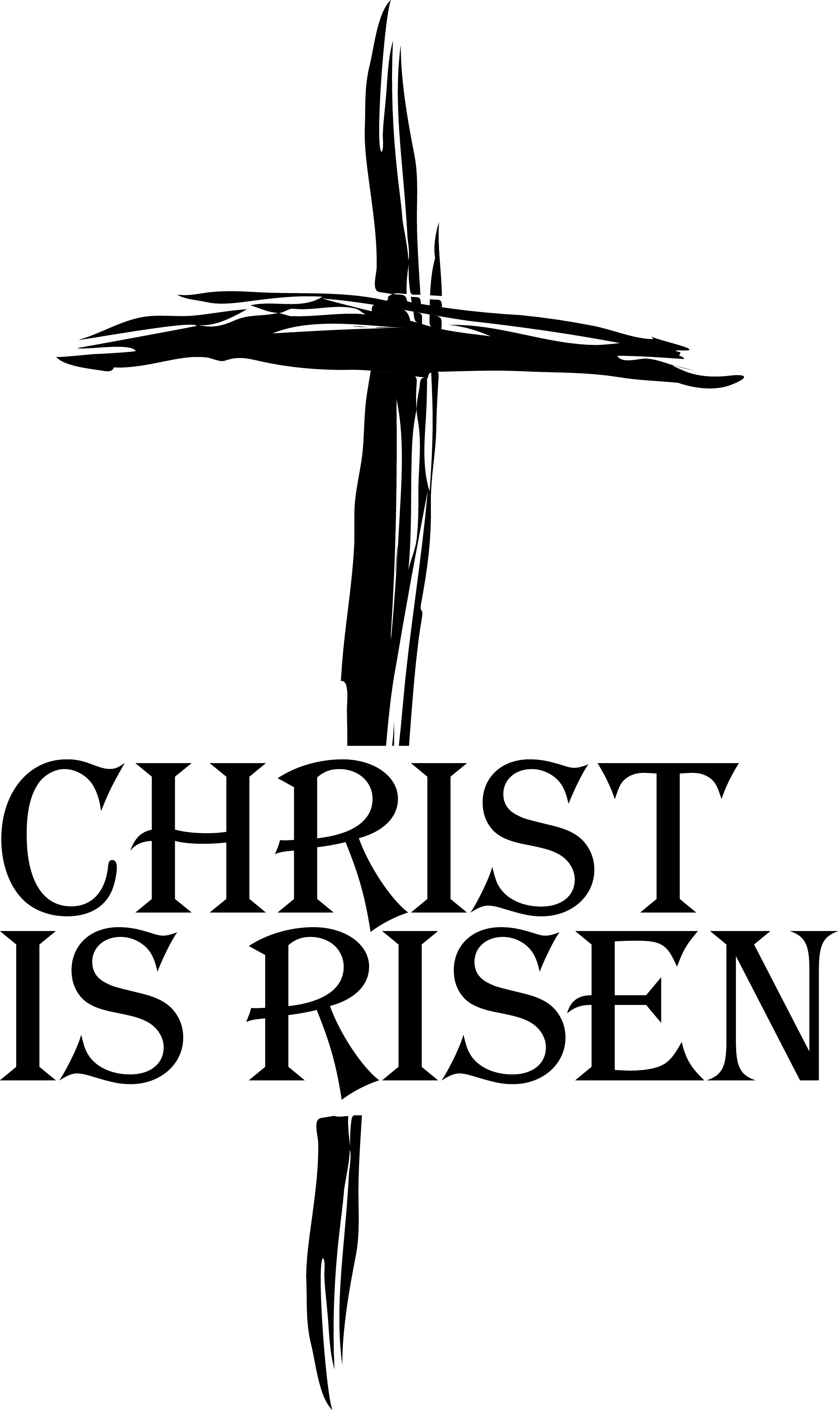Religious Easter Clipart Black and White