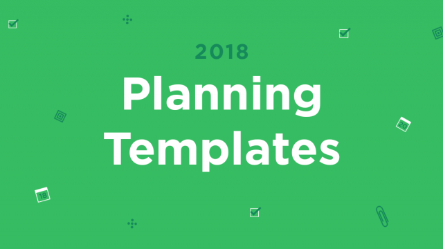 2018 Planning Template