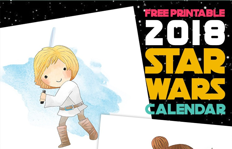 2018 Star Wars Monthly Calendar