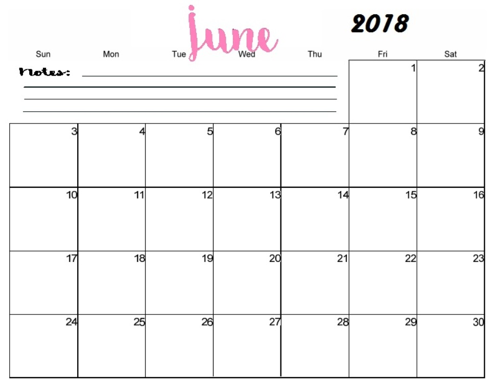 graphic regarding Free Printable June Calendar named June Calendar 2018 Printable No cost Regular Template