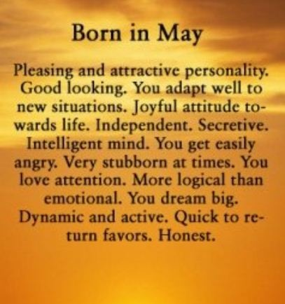 Born In May Quotes Facebook