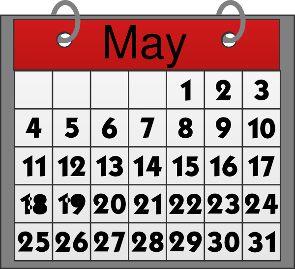 Calendar May Clipart
