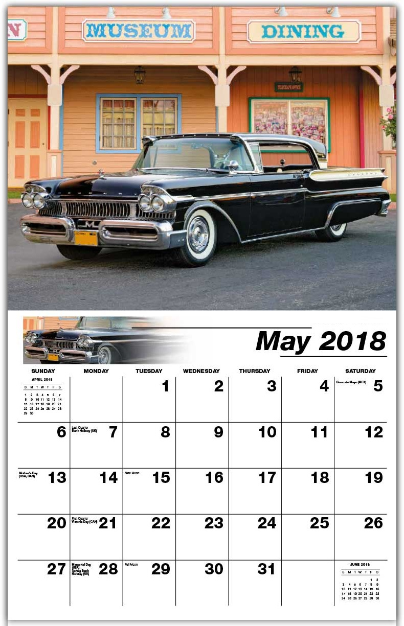 Classic May 2018 Wall Calendar