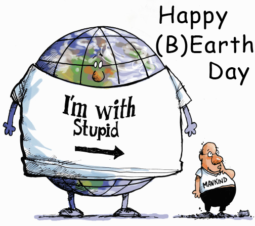 Earth Day Birthday With Cartoon Images
