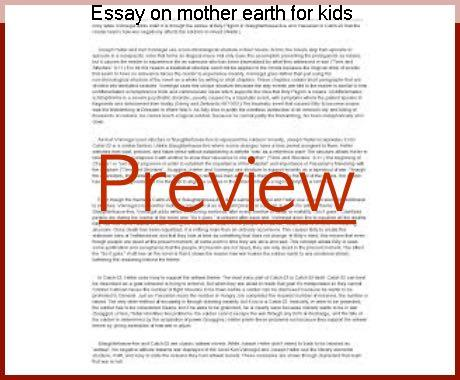 Earth Day Essay Environment Awareness