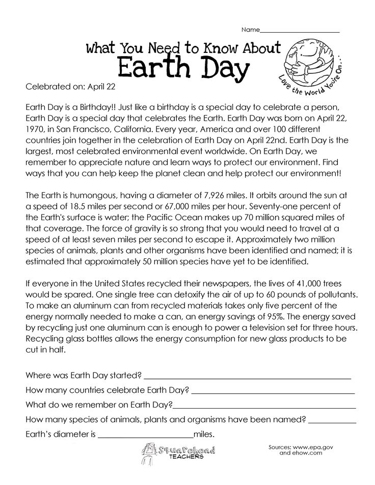 Earth Day Essay Images