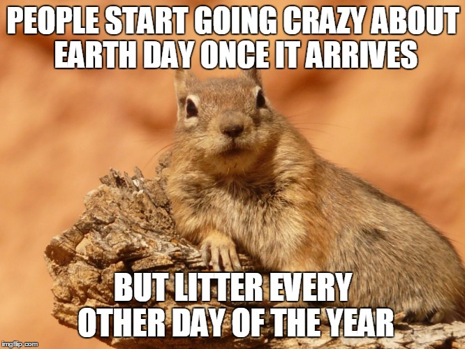 Earth Day Meme With Cartoon