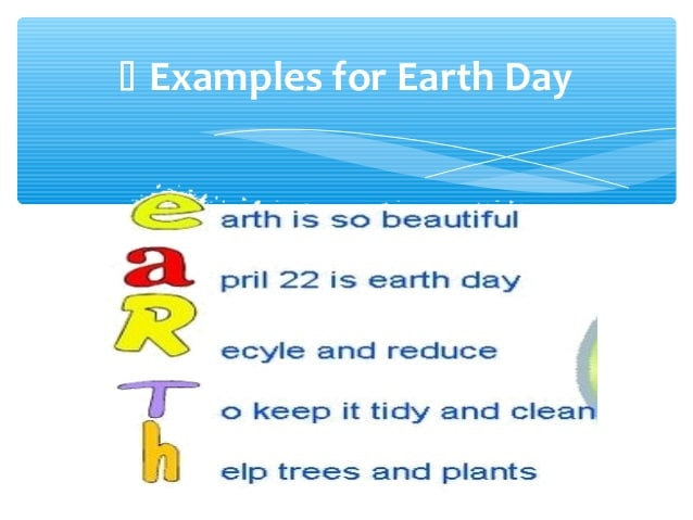 Earth Day Poem For Classes