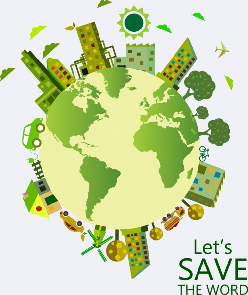 Earth Day Poster Green Planet