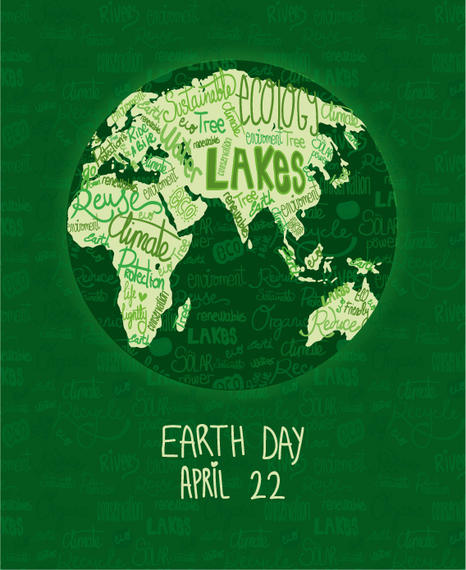 Earth Day Poster With Written World