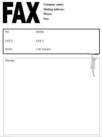 Fax Cover Sheet Free