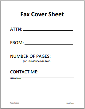Fax Cover Sheet Word PDF