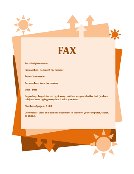 Fax Cover Sheet Word to Print