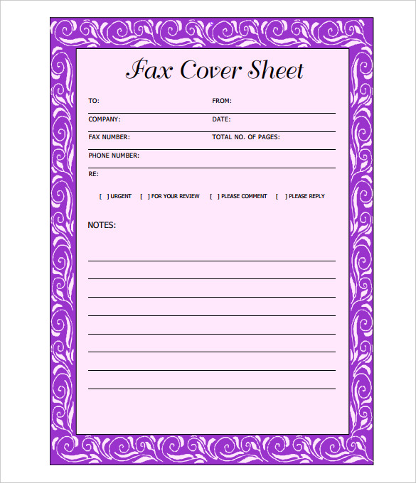 Fax Cover Sheet Template Fax Cover Sheet Word