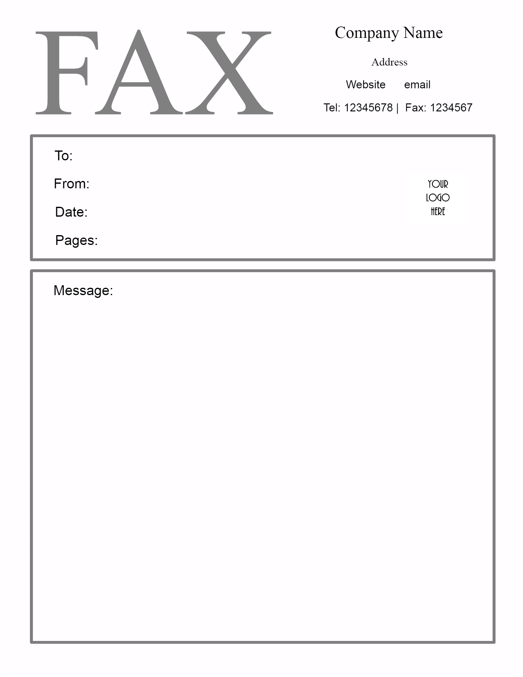 Fax Cover Sheet Printable Free Fax Cover Sheet Printable