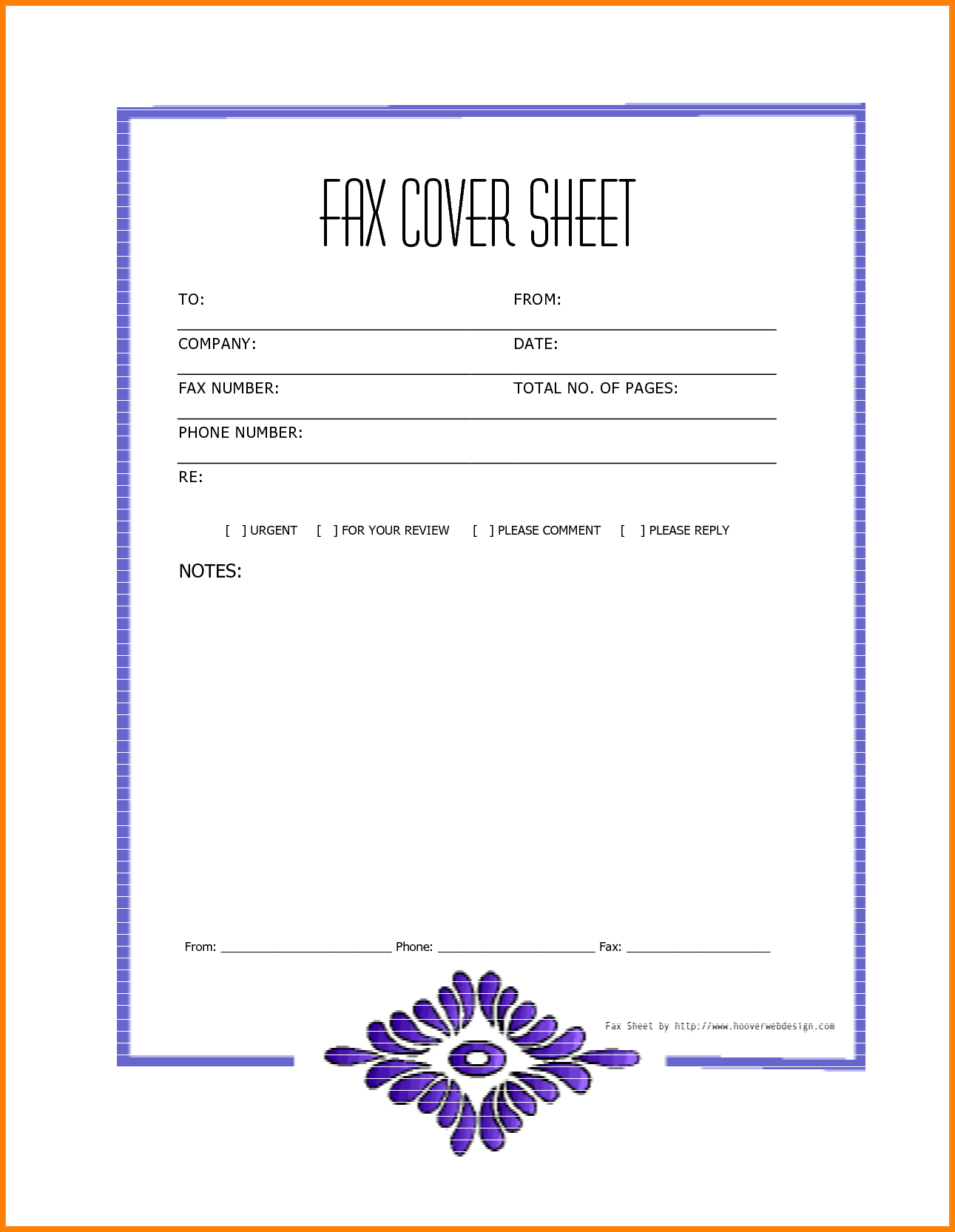 Free Printable Blank Fax