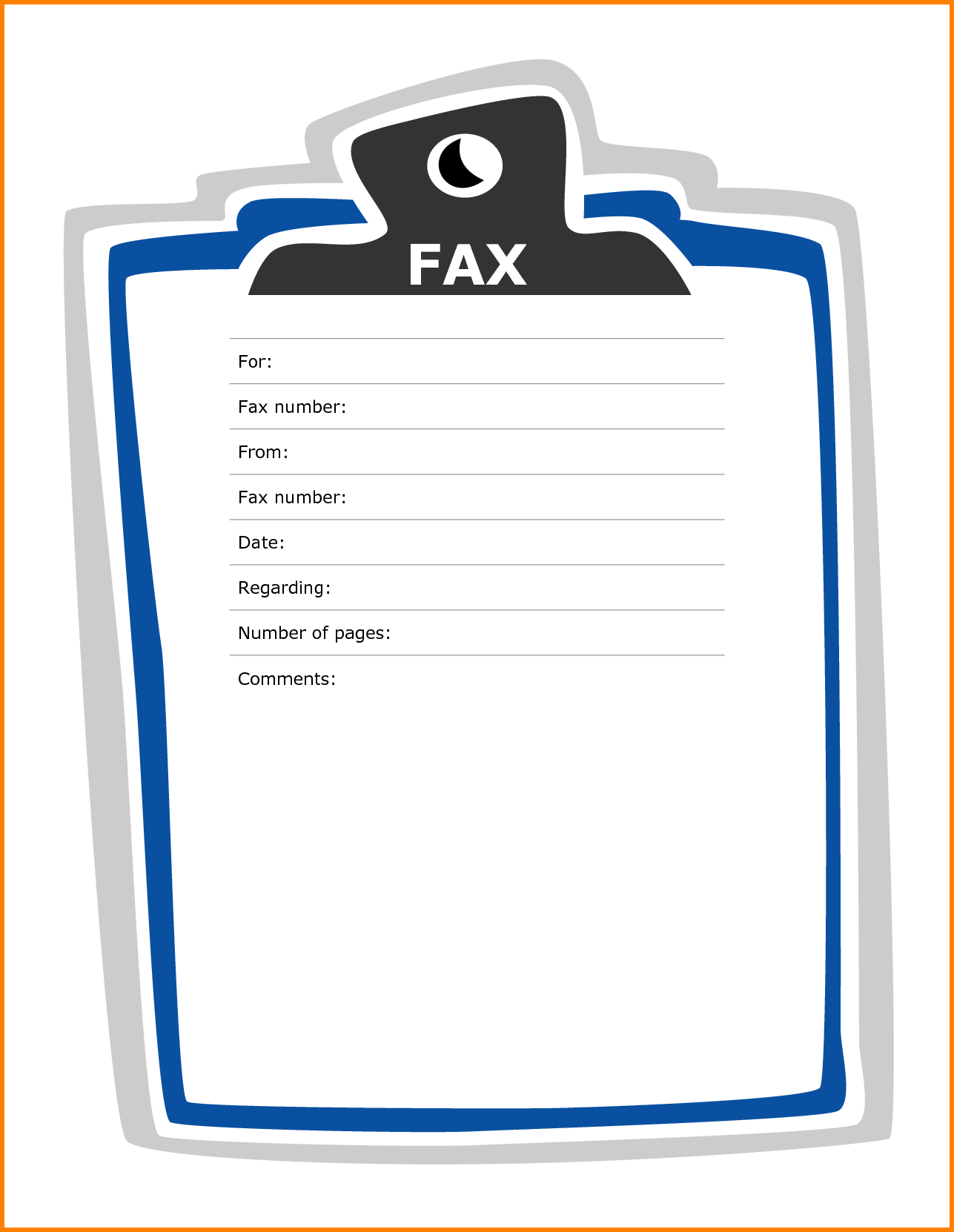Generic Fax Cover Sheet Word Document