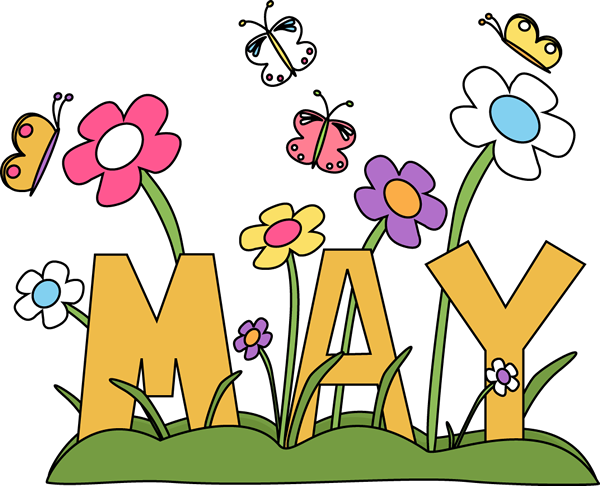Goodbye April Hello May Month Clipart
