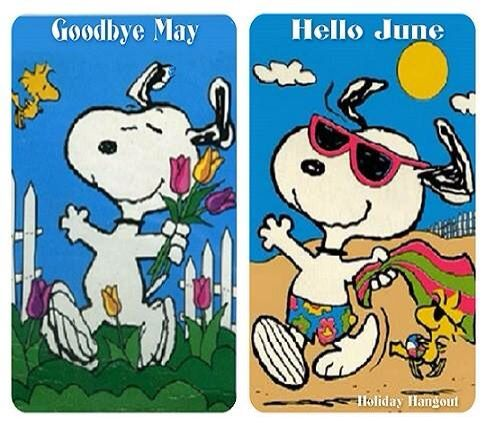 Goodbye May Hello June Clipart