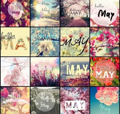 Hello May Images Collage